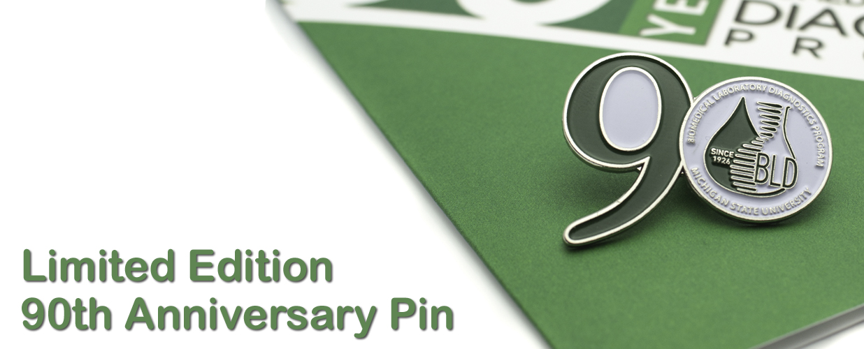 90th anniversary pin